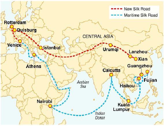 3路线的起点为福建省泉州,连接广东省广州(guangzhou),海南省海口(ha
